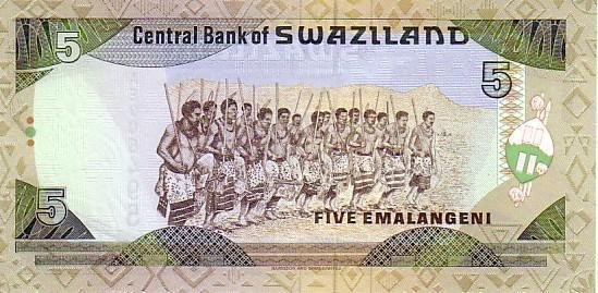 SWAZILAND   5 Emalangeni   Non Daté (1995)   Pick 23a   *****BILLET  NEUF***** - Swaziland