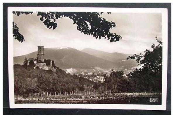 GODESBERG: Blick Auf Godesburg Und Siebengebirge -alte AK Im Kleinformat- - Bonn