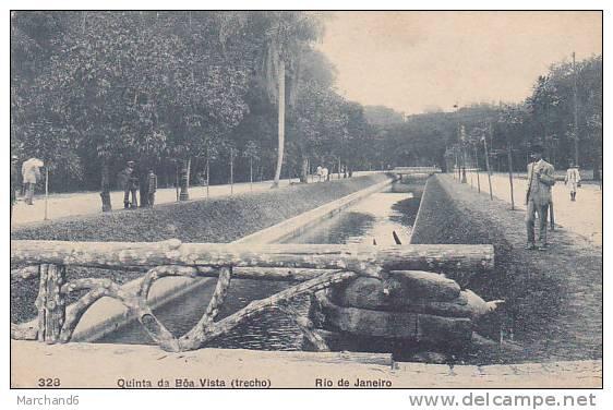 BRESIL.RIO DE JANEIRO.QUINTA DA BOA VISTA TRECHO Cp Plie Coté Droit état - Boa Vista