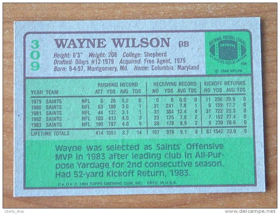 WAYNE WILSON / SAINTS RB ( 309 ) ! - Singles (Simples)