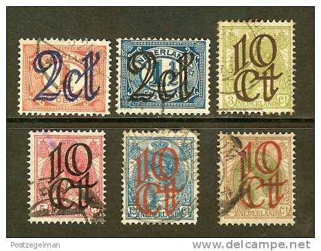 NEDERLAND 1923 Opruimingsuitgiften Not Complete Used 6 Values Only - Period 1891-1948 (Wilhelmina)