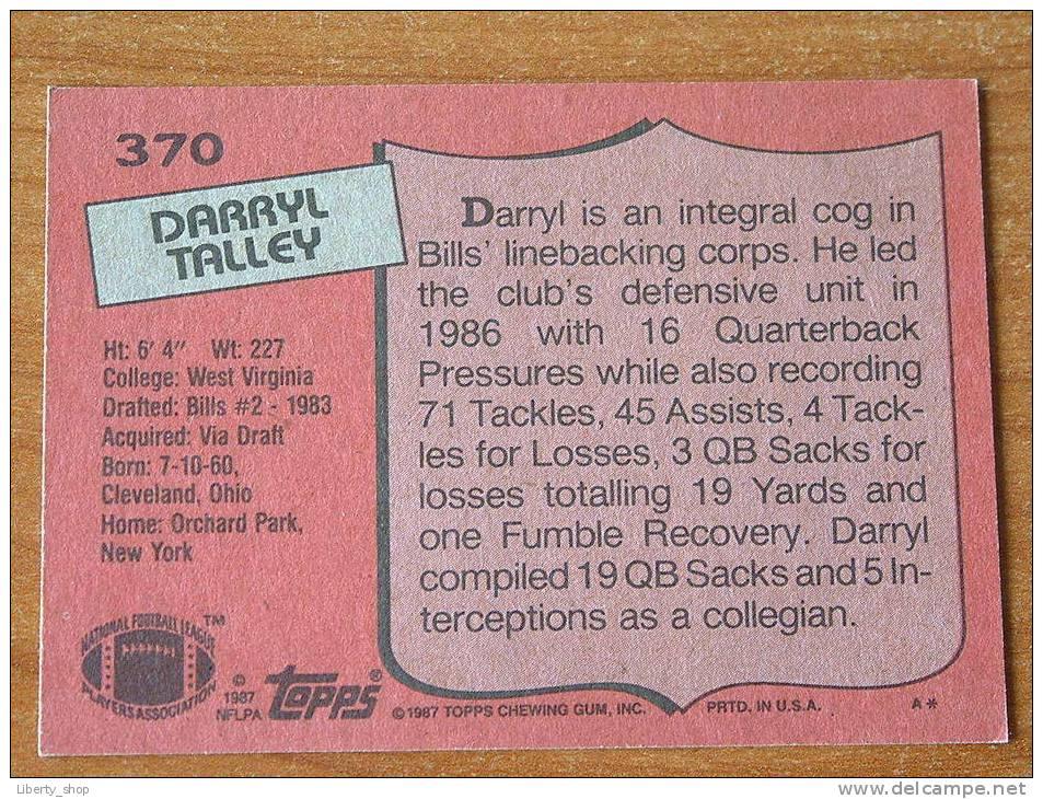 DARRYL TALLEY / BILLS ( 370 ) ! - Singles (Simples)