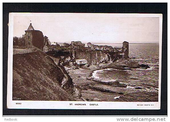 1906 Real Photo Postcard St Andrews Castle Fife Scotland To Jesmond - Ref 368 - Fife