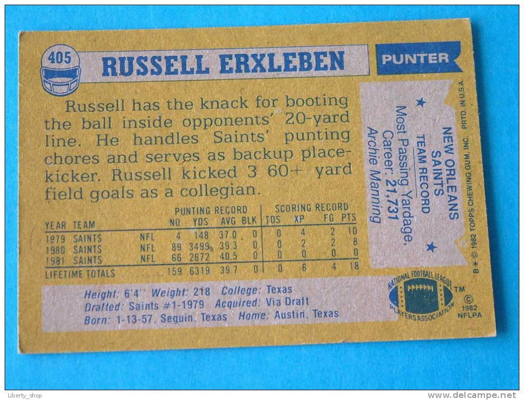 RUSSELL ERXLEBEN / SAINTS - P ( 405 ) ! - Singles (Simples)