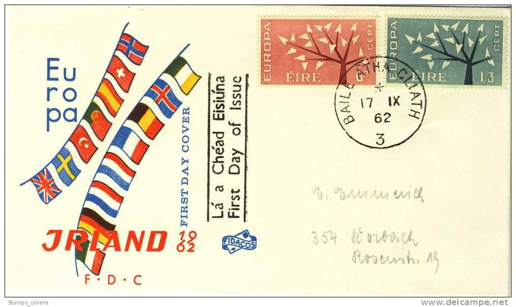 IRLAND FDC MICHEL 155/56 EUROPA 1962 - 1962