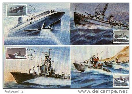 RSA 1982 Postcards Marine Ships 597-600 - South Africa