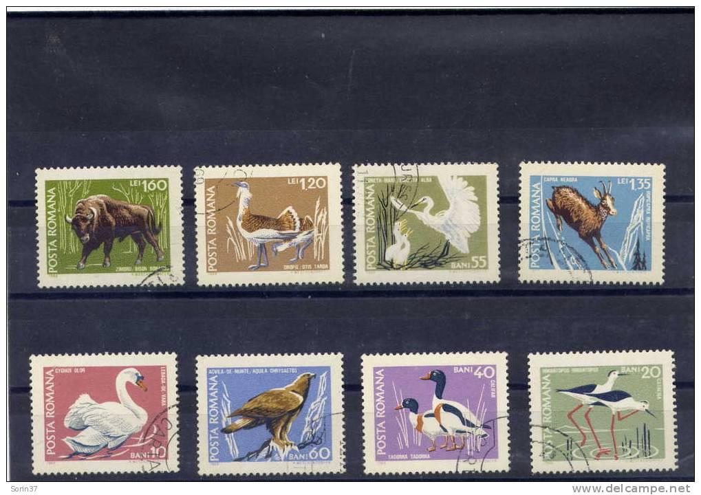 RUMANIA / ROMANIA / ROUMANIE   Año 1968  Yvert Nr. 2423/30  Usada  Fauna - 1948-.... Repúblicas