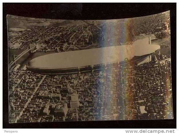 "AK ZEPPELINE  FOTO BERLIN ""AKRON"" U.S.A.NEW YORK REAL PHOTO OLD POSTCARD - Dirigibili"