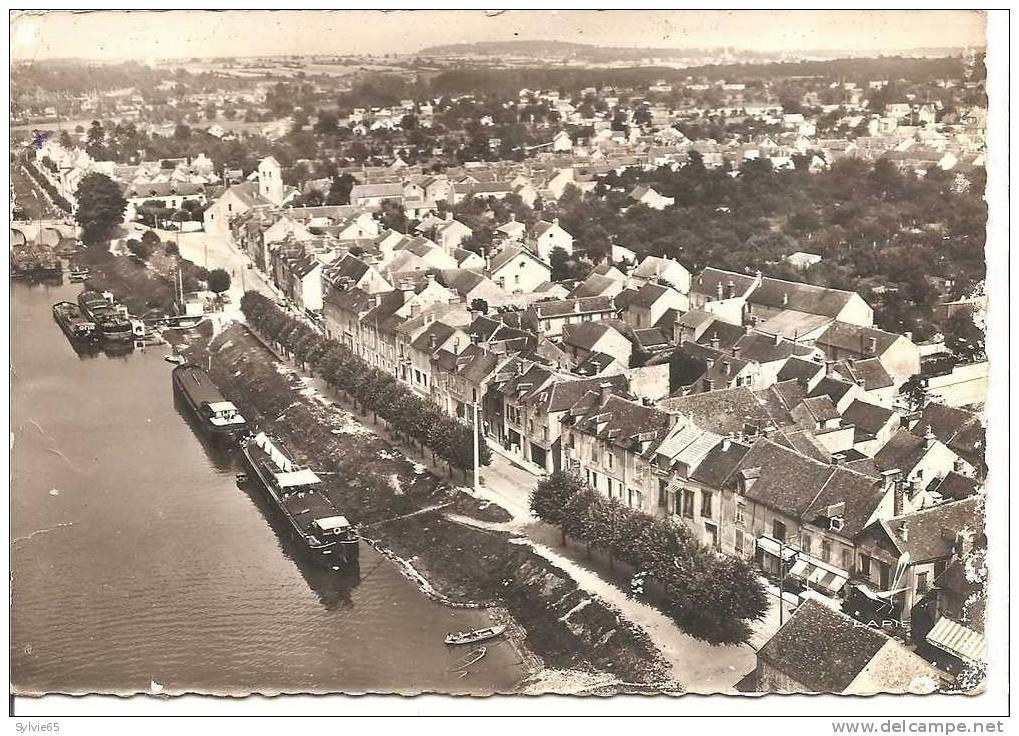 SAINT-MAMMES-quai De La Seine, Avec Vue Aérienne Sur La Ville,les Péniches Etc.. - Saint Mammes
