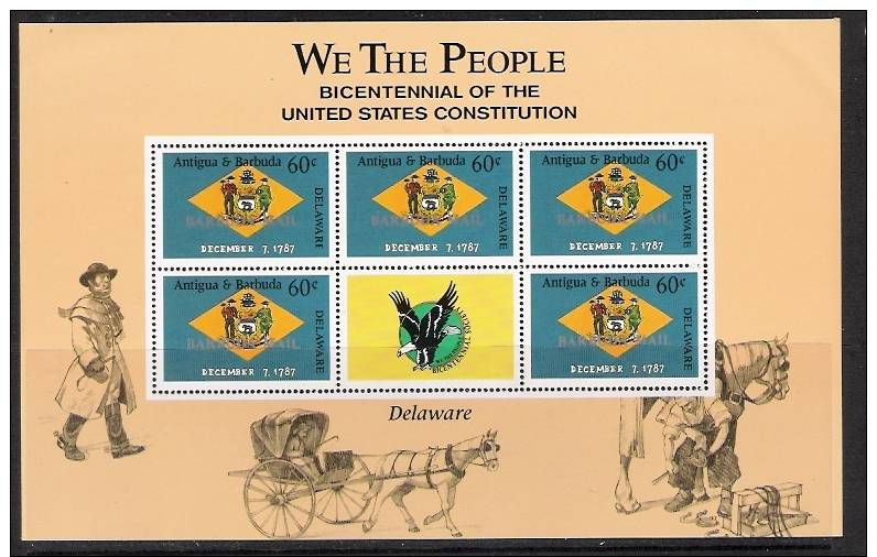 Barbuda.MNH..Bicentennial Of US Constitution.Delaware. - Antigua E Barbuda (1981-...)