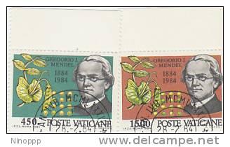 Vatican-1984 Mendel Used Set - Vatican