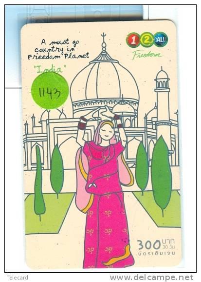 Telecarte THAILAND  (1143) INDIA INDE  RELATED  * Telefonkarte - Inde