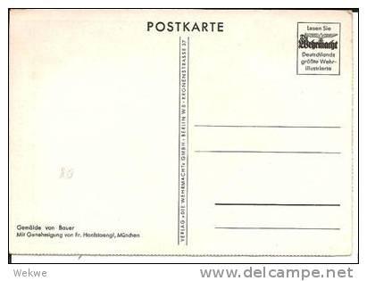 III-Pro100a Propagandakarte, / Wehrmacht-Verlag,  Schöne Farbige Werbekarte Hindenburg - Allemagne