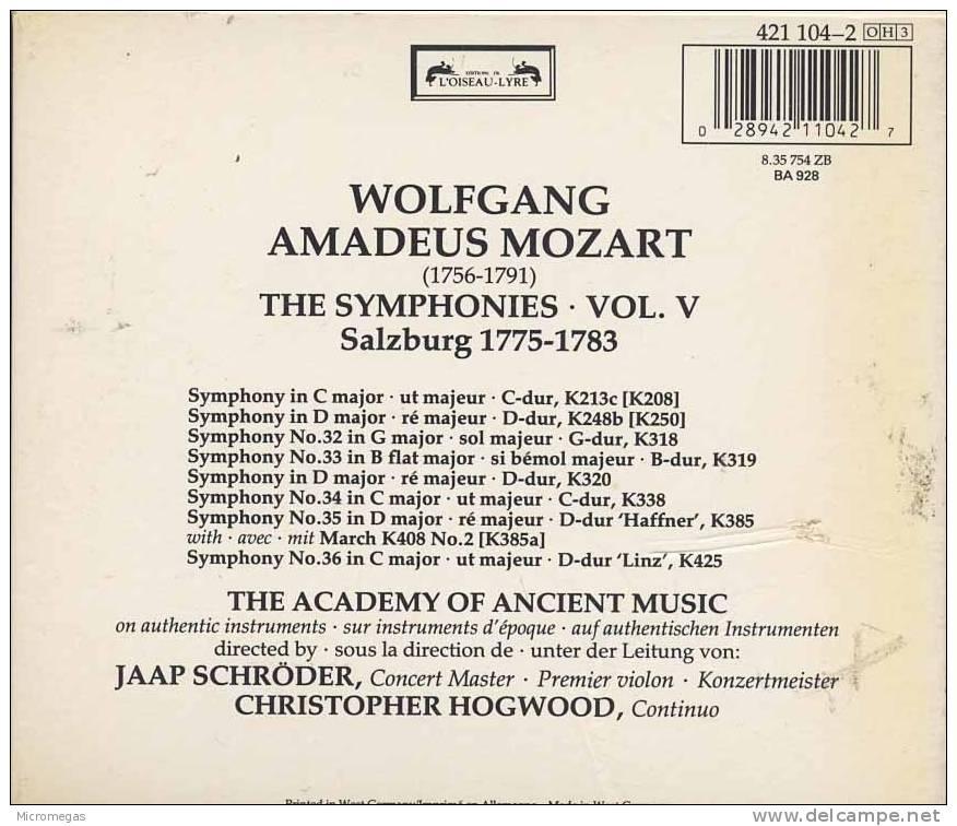 Mozart : Symphonies, Vol.5, Hogwood - Classique
