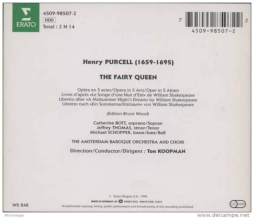 Purcell : The Fairy Queen, Ton Koopman - Oper & Operette
