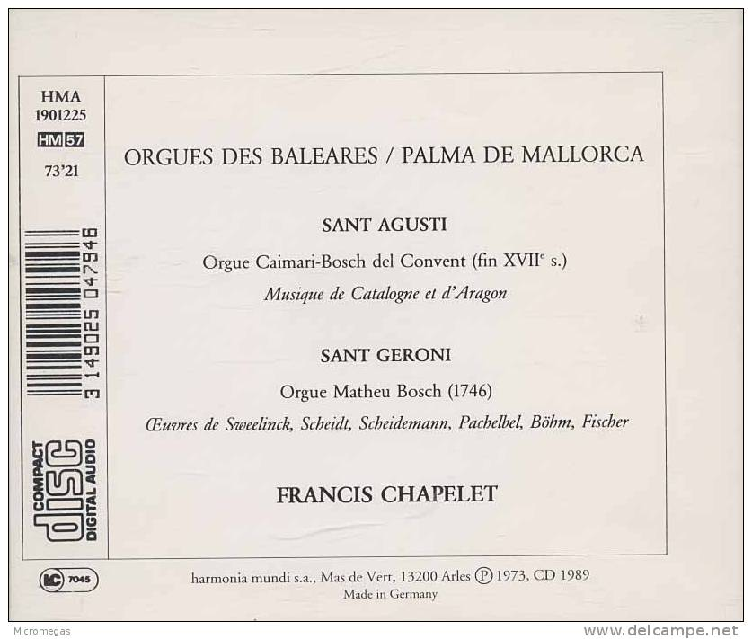 Orgues Historiques, Baleares, Palma De Majorque, Francis Chapelet - Classique