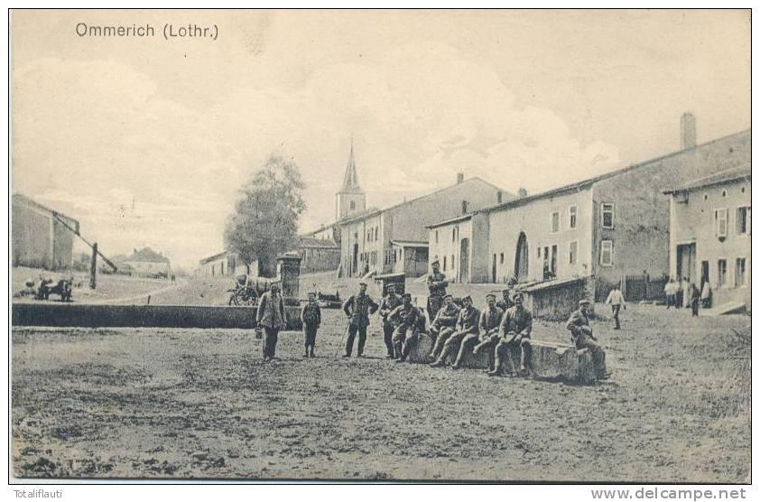 Ommerich Lothringen Animee Grande Guerre 14.18 Feldpost Notstempel 21.7.1917 Ommeray Vic-sur-Seille - Chateau Salins