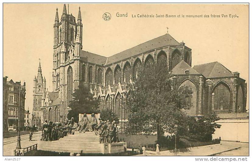 GAND - La Cathédrale Saint-Bavon Et Le Monument Des Frères Van Eyck (Ern. Thill, Bruxelles) - Gent