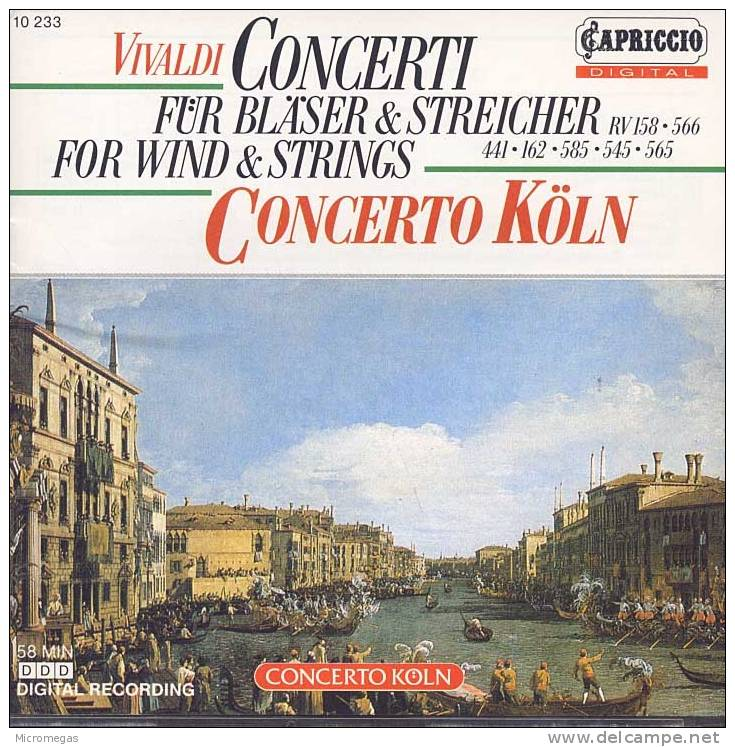 Vivaldi : Concertos Pour Vents Et Cordes, Concerto Köln - Classique