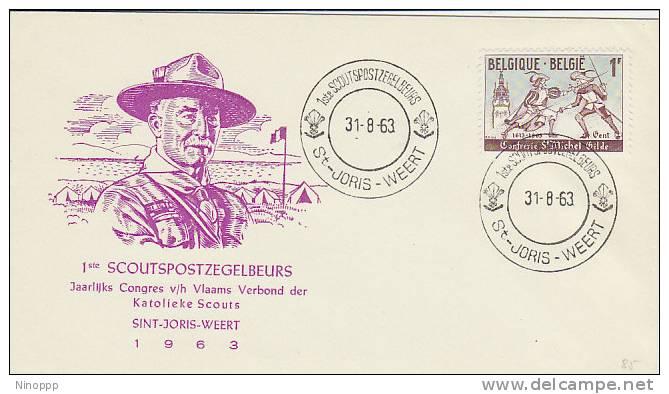 Belgium-1963 1st Scouts Congress Souvenir Cover - Scouting