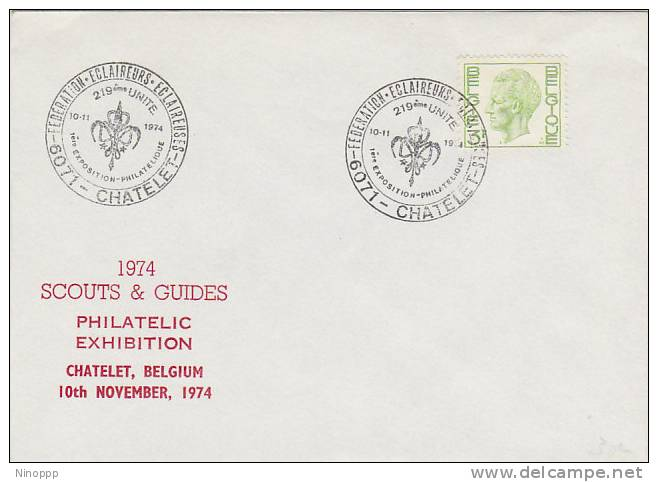 Belgium-1974 Scouts And Guides Philatelic Exhibition Souvenir Cover - Scouting