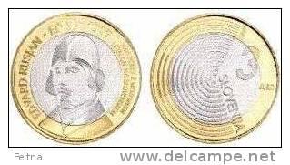 NEW 2009 SLOVENIA 3 EUR COIN EDVARD RUSJAN UNC - Slovenia