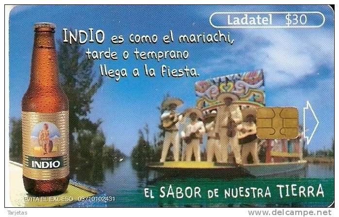 TARJETA DE MEXICO DE CERVEZA INDIO MUSICOS (BEER) - Alimentación