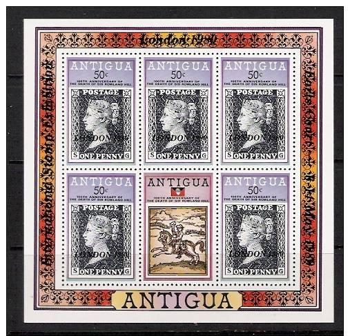 Antigua.MNH. London World Exibition.Overprinted.4 Scans. Sheets. - Antigua E Barbuda (1981-...)