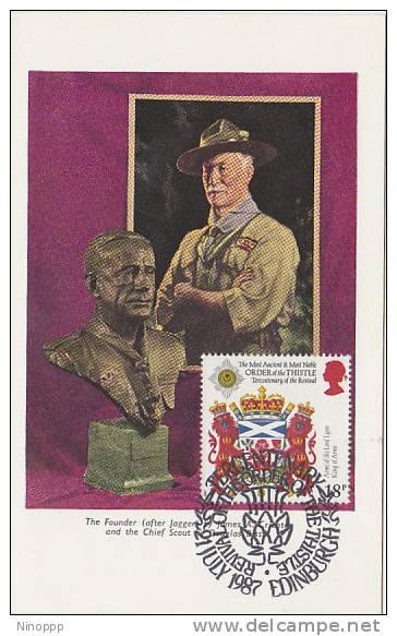 Great Britain-1987 Baden Powell Maximum Card - Scouting