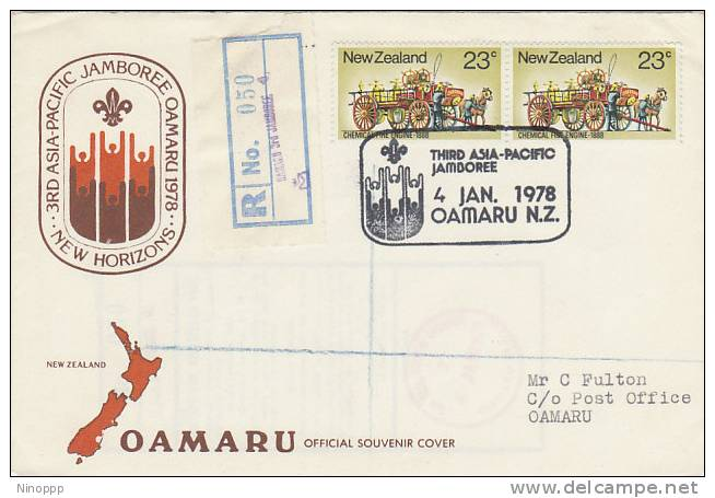 New Zealand-1978 Third Asia Pacific Jamboree Registered Cover - Scouting