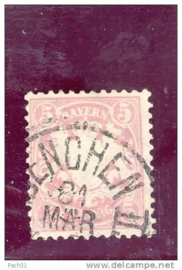 Bavière N° 49 Oblitéré - Bavaria