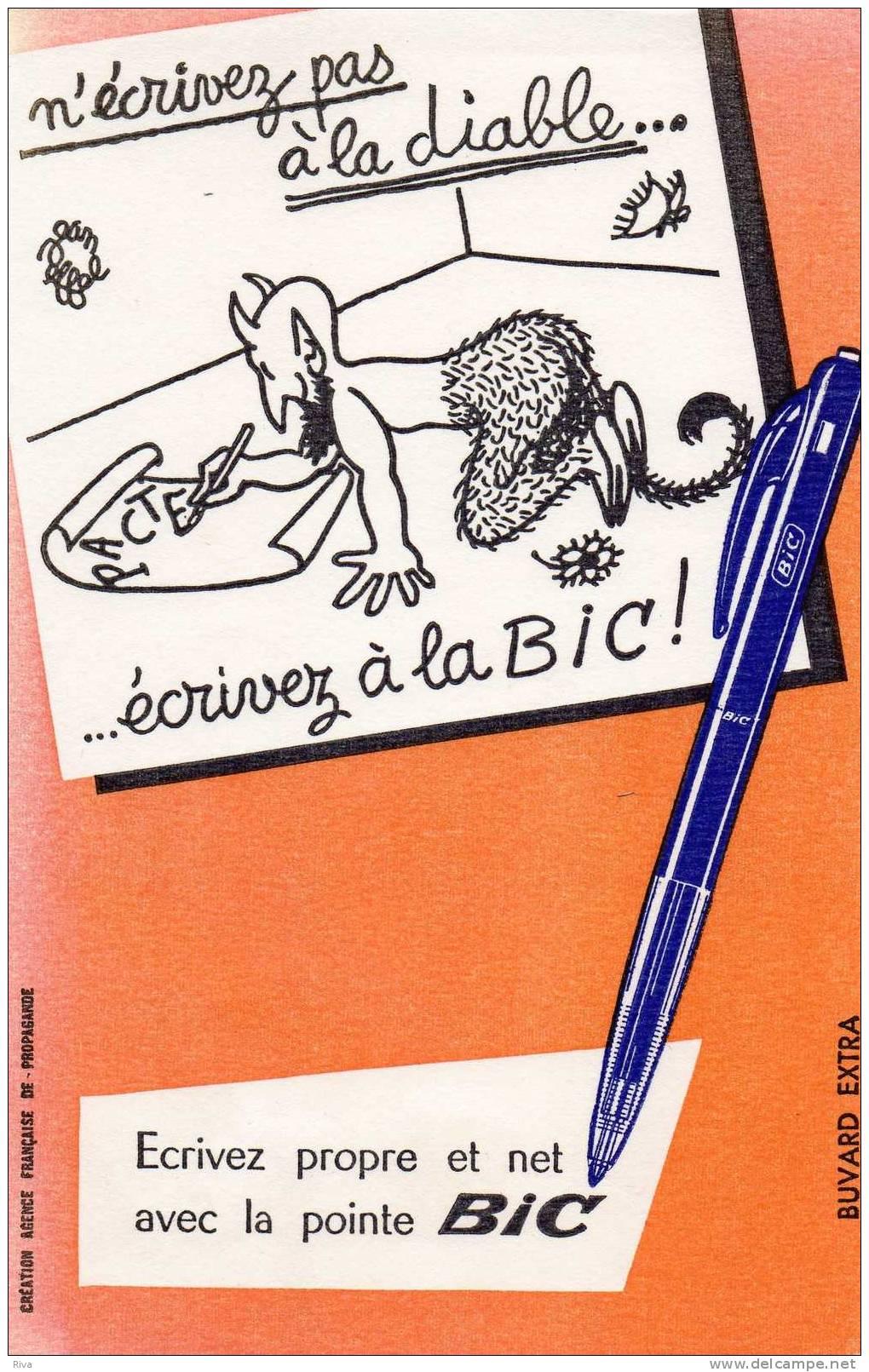 Buvard  Ecrivez Propre Et Net Avec La Pointe BIC - Papeterie