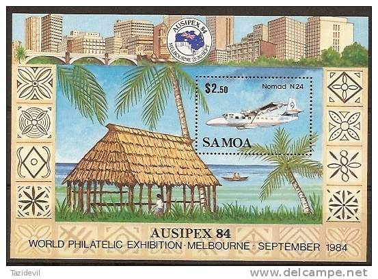 SAMOA - 1984 Ausipex Souvenir Sheet. MNH ** - Samoa