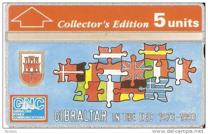 23 TARJETA DE GIBRALTAR DE LA COMUNIDAD EUROPEA (BANDERAS) - Gibraltar