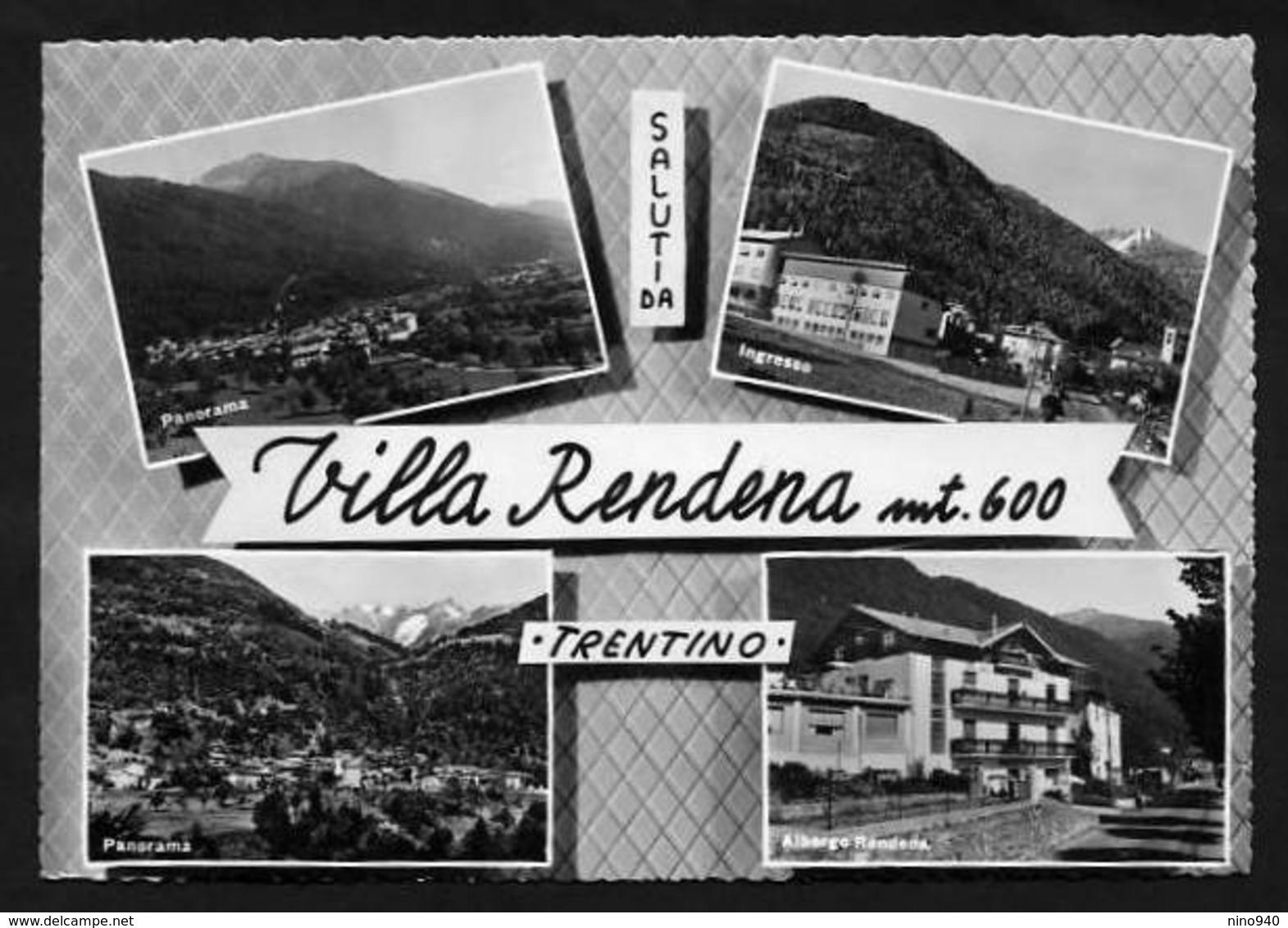 SALUTI DA VILLA RENDENA (TN)  - 4 VEDUTINE - F/G - V: 1962 - Trento