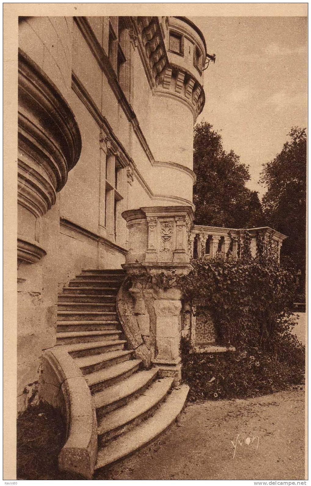 37 AZAY LE RIDEAU Façade De L'Escalier - Azay-le-Rideau