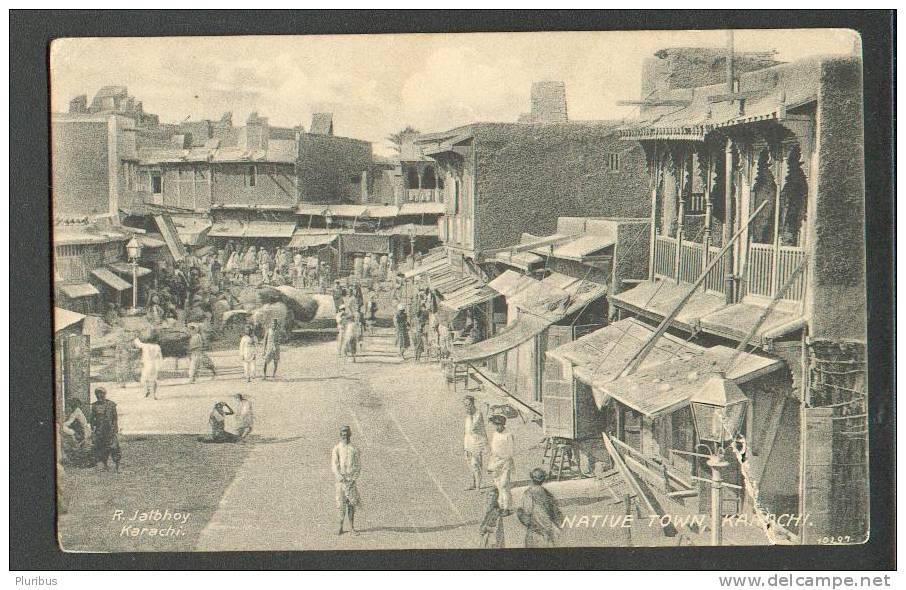 PAKISTAN. KARACHI, STREET VIEW,  VINTAGE POSTCARD - Pakistan