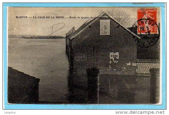 76 - MARTOT -- La Crue De La Seine - Route .... - France