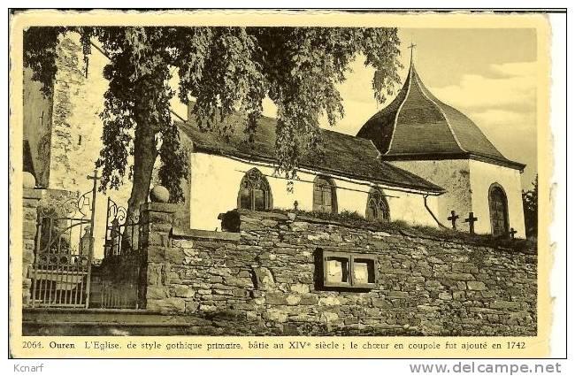 """CP De OUREN """" L'église , De Style Gothique Primaire , ..."""". - Burg-Reuland"""