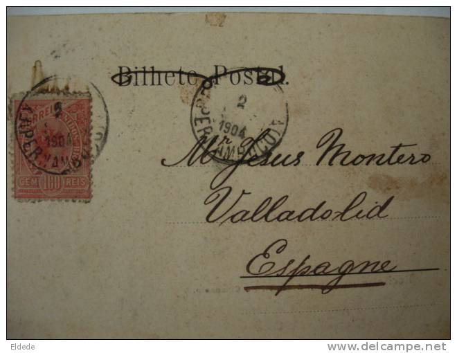 Recife Pernambuco Assemblea E Gymnasio Postally Used 1904 - Recife