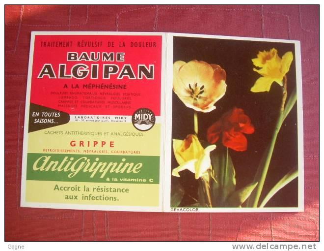 09B - 1964 GEVACOLOR, Fleur Publicité Baume Algipan Et Antigrippine - Calendarios