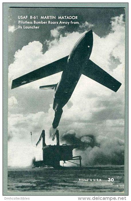 USAF B-61 Martin Matador Pilotless Bomber Being Launched 1950s Arcade Postcard (S-4) - 1946-....: Moderne
