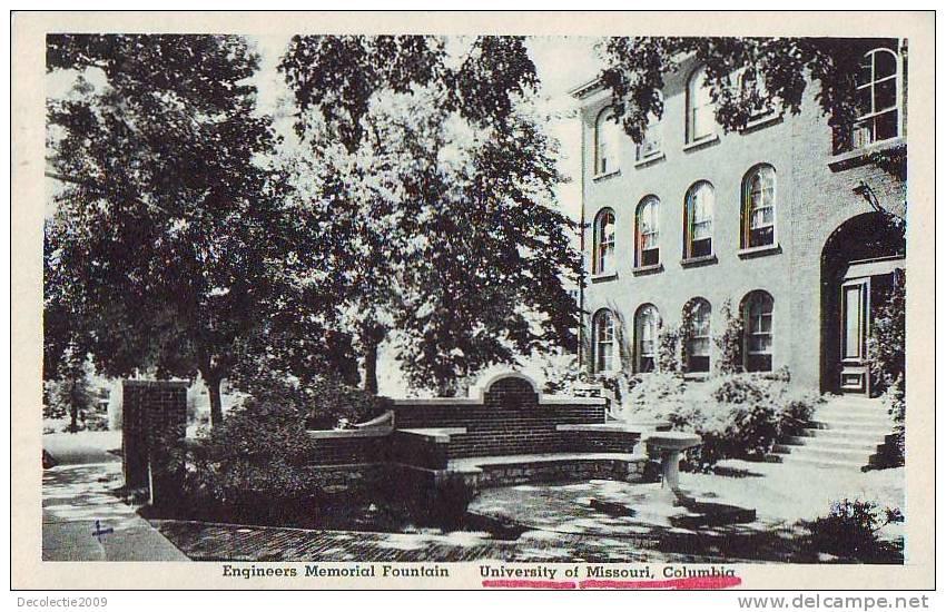 Z1107 United States University Of Missouri Columbia Engineers Memorial Fountain - Columbia