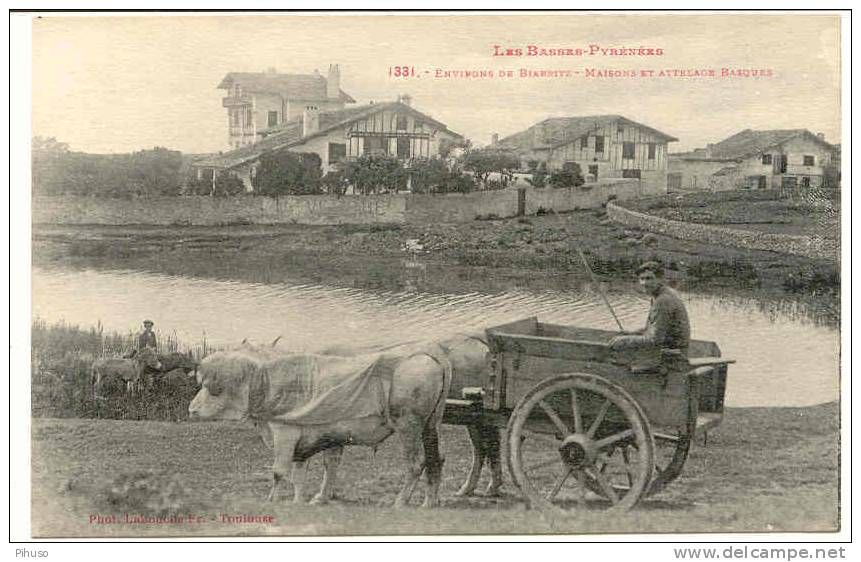 *785* : BIARRITZ : Maisons Et Attelage Basque - France