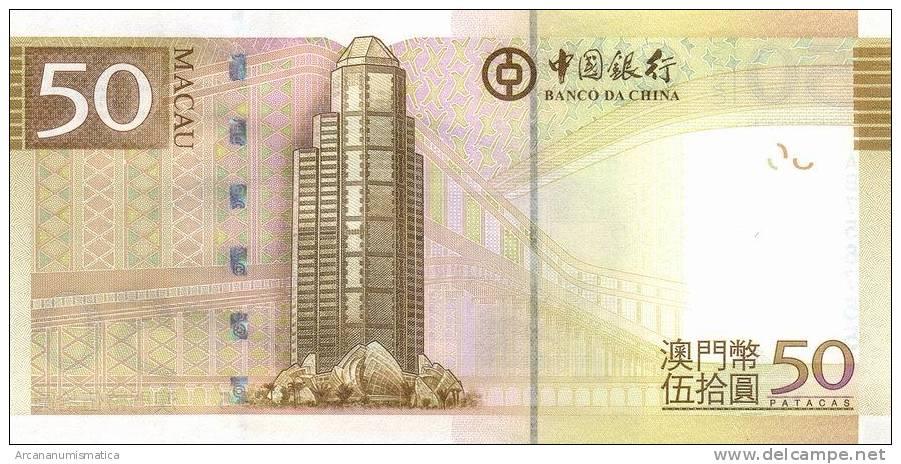 MACAU  (BANCO DE CHINA)   50  PATACAS    2008  (2009)  SC/UNC/PLANCHA      DL-6773 - Billetes