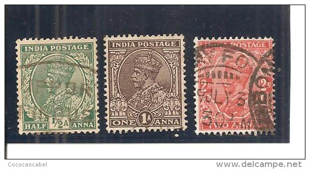 India Inglesa - Nº Yvert 133-35 (usado) (o) - India (...-1947)