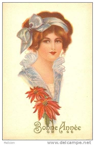 ILLUSTRATEURS-ref  277- Portrait De Femme - Theme Femmes   -carte Bon Etat - - Illustrateurs & Photographes