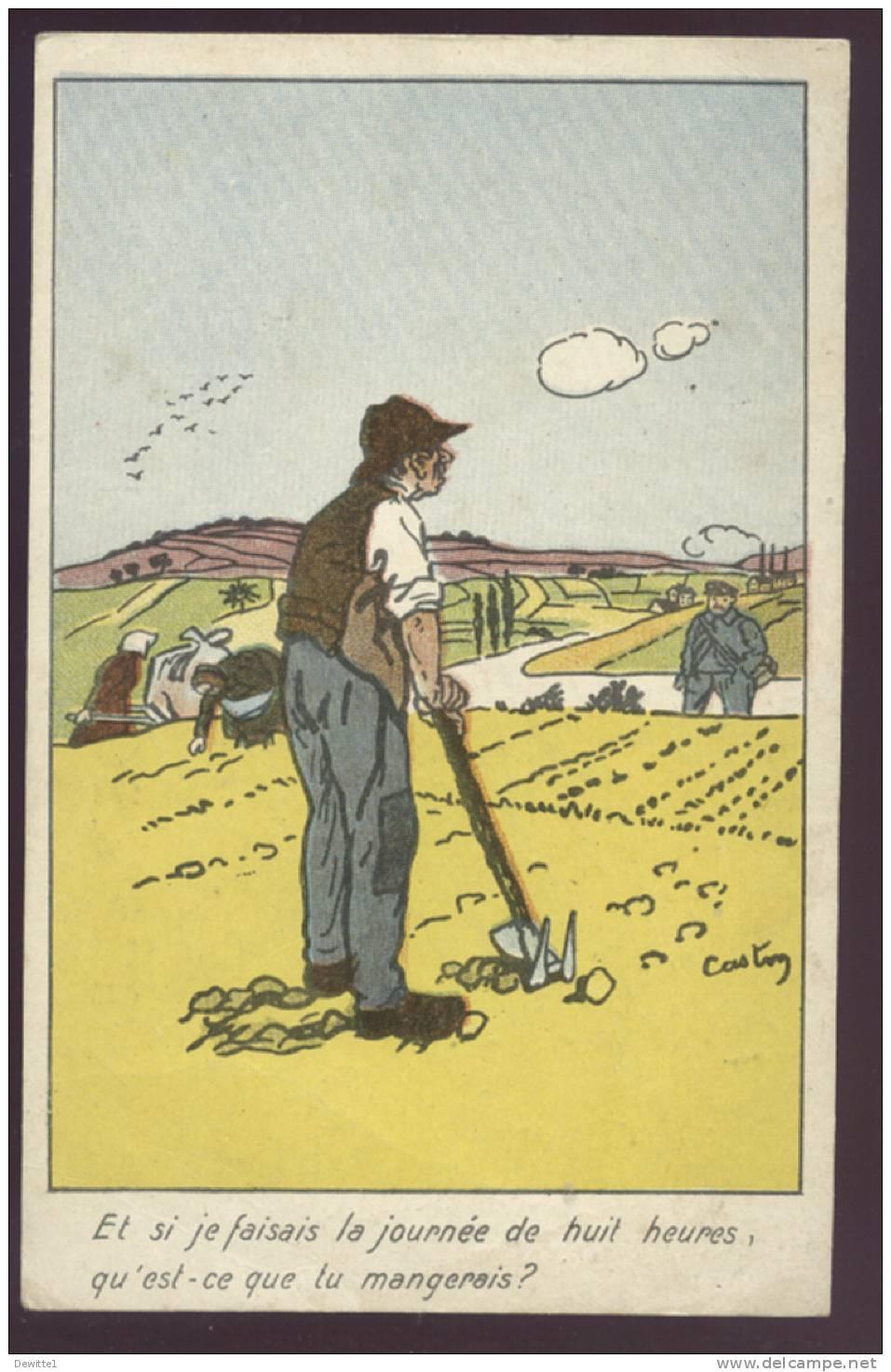 Politique Carte  Et Si Je Faisais La Journée De Huit Heures,qu'est Ce Que Je Mangerais ? - Satirical