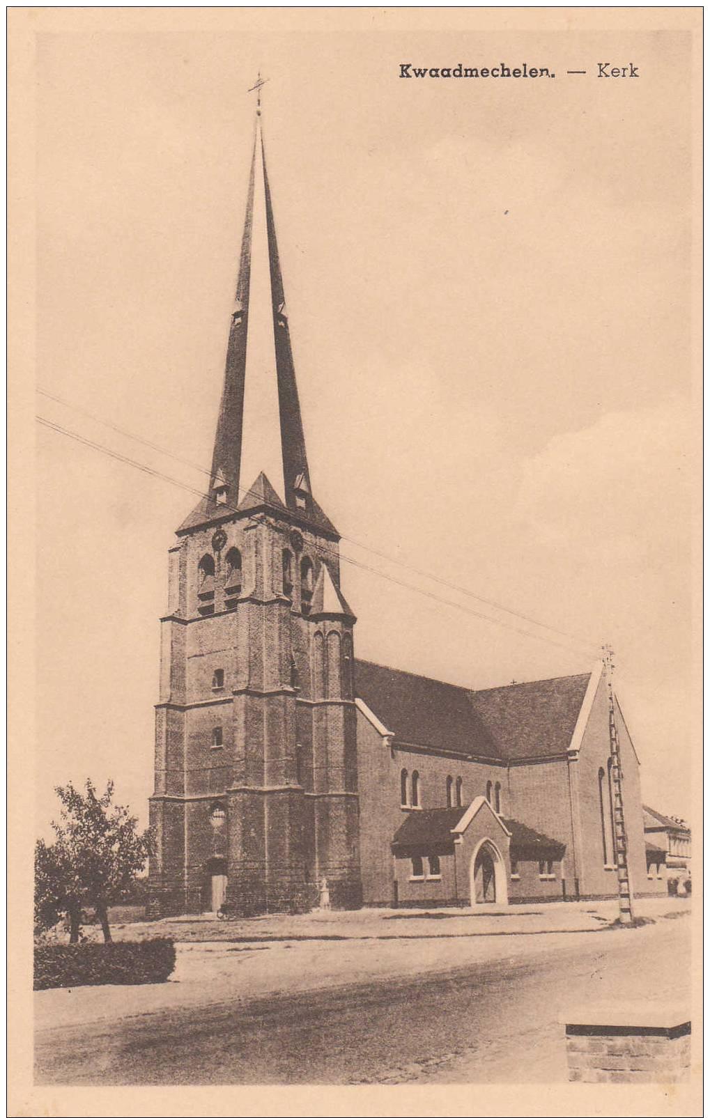 KWAADMECHELEN - Kerk - E. Beernaert, Lokeren - PRACHTKAART !! - Ham