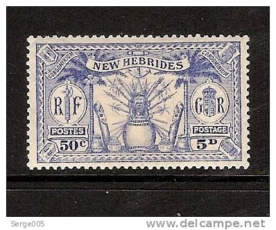 NOUVELLES HEBRIDES    VENTE No P2  /  98   MH**   1925   Native Idols    Bristis Issues - New Hebrides